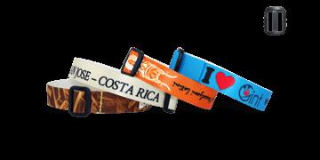 Gedruckte weiche Satin-Armbänder mit wiederverwendbarem Kunststoffverschluss, Roma