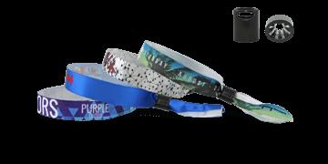 Gedruckte weiche Satin-Armbänder mit Kunststoff-Schiebeverschluss, Sydney