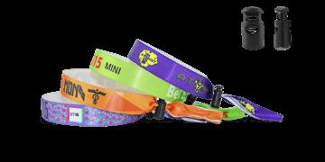 Gedruckte Satin-Armbänder mit wiederverwendbarem Kunststoffverschluss, Venice