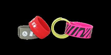 Personalisierte Silikon-Schnapparmbänder, 25 x 230 mm