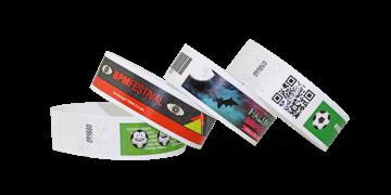 Personalisierte Tyvek®-Armbänder, 25 mm, Vollfarbendruck