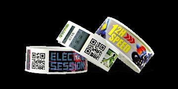 Vollfarbigen Barcode-Armbänder, TPS, 25 mm (matte Oberfläche)