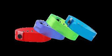 Lichtdurchlässige Medium Vinyl-Armbänder, 19 mm