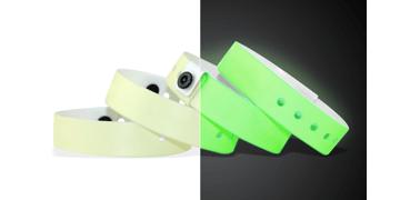 Medium Vinyl-Armbänder, 19 mm, Glow in The Dark