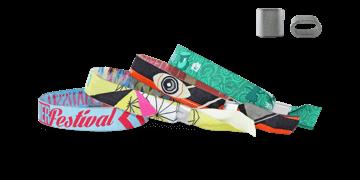 Gewebte Stoff-Armbänder mit flachem Metallverschluss, Honolulu