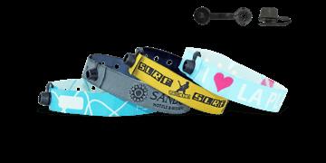Gewebte Stoff-Armbänder mit rundem Kunststoffverschluss, Nice