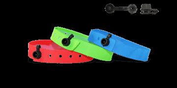 Vorrätige Stoff-Armbänder mit rundem Kunststoffverschluss, Nice