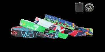 Gewebte Stoff-Armbänder mit Kunststoff-Schiebeverschluss, Oslo