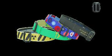 Gewebte Stoff-Armbänder mit wiederverwendbarem Kunststoffverschluss, Roma