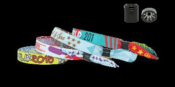 Gewebte Stoff-Armbänder mit Kunststoff-Schiebeverschluss, Sydney