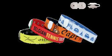 Gewebte Stoff-Armbänder mit rundem Vinylverschluss, St Tropez