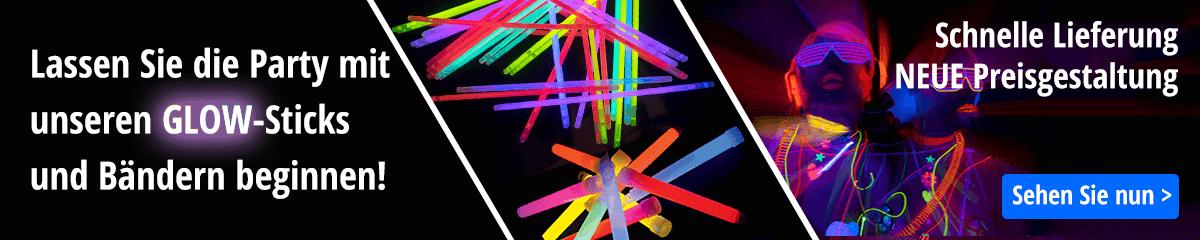 Leuchtarmbänder und Leuchtstäbe